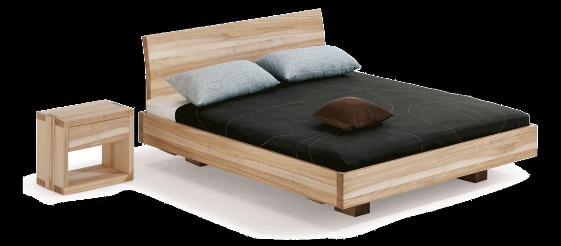 Dormiente Nachtkonsole Morell und Massivholzbett Morell- Collage