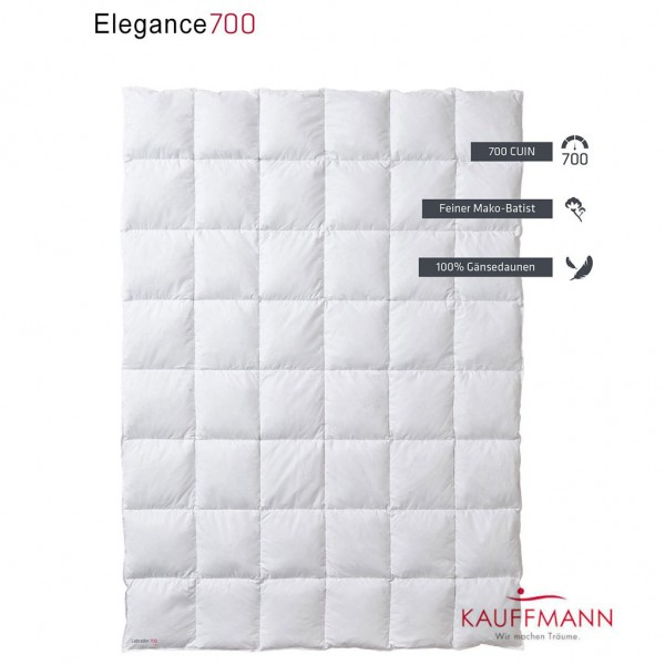 Kauffmann Elegance 700 Daunendecke WK: leicht