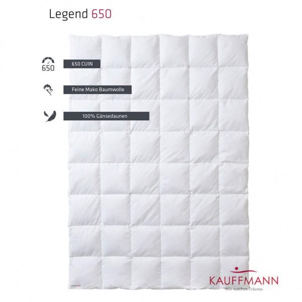 Kauffmann True Legend 650 Daunendecke