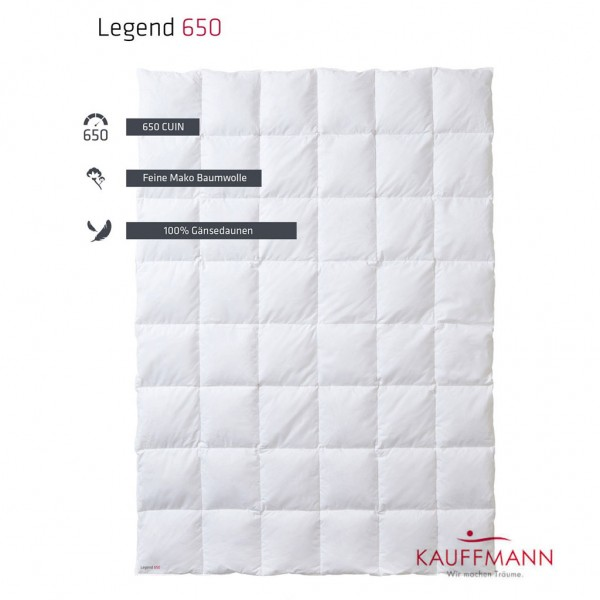 Kauffmann Legend 650 Daunendecke WK: leicht