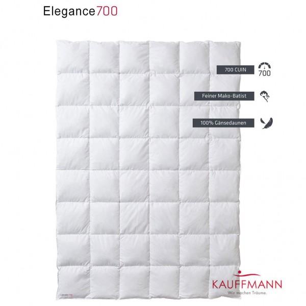 Kauffmann Elegance 700 Daunendecke 4 cm Steg WK: extra-warm