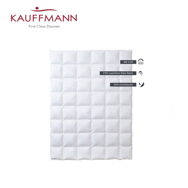 Kauffmann 900 Daunendecke WK: mittel