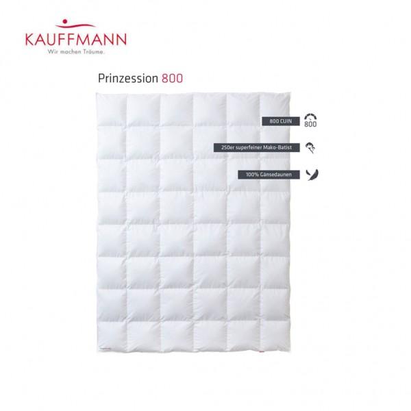Kauffmann Prinzessin 800 Daunendecke WK: warm